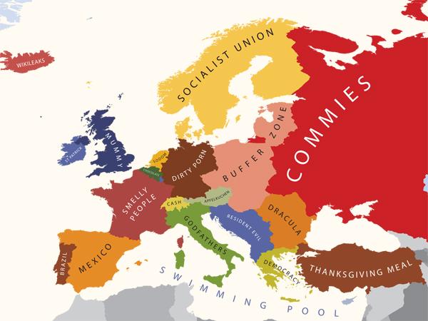 A Europa segundo os E.U.A.