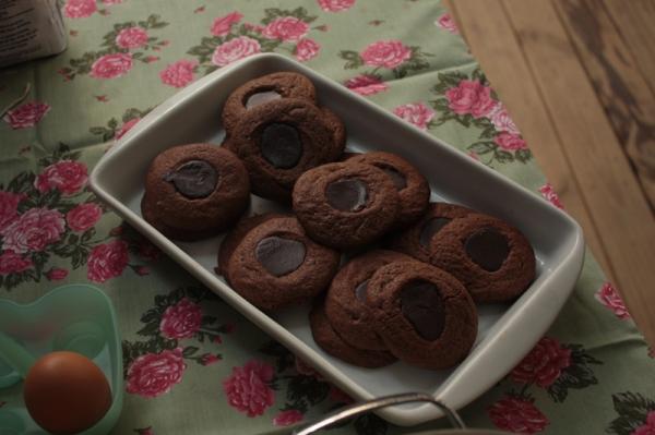 Cookies com recheio de Ganache